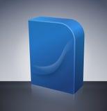 Blank dvd box on background Stock Image