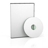 Blank DVD case. And disc royalty free illustration