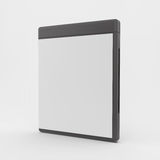 Blank DVD-case or CD-case. 3d vector illustration. Can be used for advertising, marketing, presentation Royalty Free Stock Images