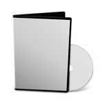 Blank DVD case Stock Images