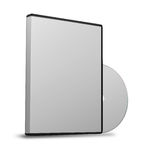 Blank DVD case Royalty Free Stock Photo