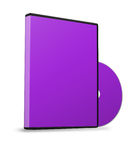 Blank DVD case Royalty Free Stock Images