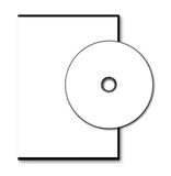 Blank DVD case and disc Stock Photos