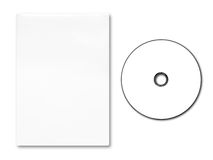Blank DVD case and disc Stock Image