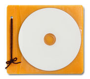 Blank DVD case and disc Royalty Free Stock Image