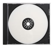Blank DVD CD with Path Royalty Free Stock Image