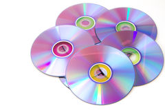 Blank dvd discs, isoalted Stock Photo