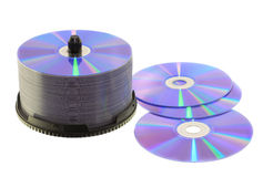 Blank dvd discs stock images