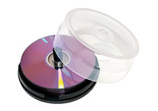 Blank dvds Stock Photo