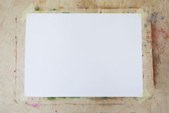 Blank Easel With Copy Space. Close up. Ready to painting Royalty Free Stock Photography