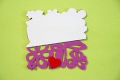 Blank Easter love card Royalty Free Stock Image