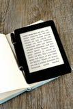 Blank ebook reader Stock Photos