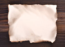 Blank edged burned paper Royalty Free Stock Images