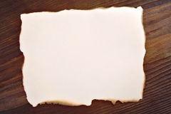 Blank edged burned paper Royalty Free Stock Image