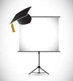 Blank education graduation presentation board. Stock Image
