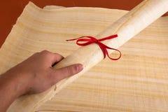 Blank Egyptian papyrus Stock Photos