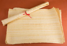 Blank Egyptian papyrus Stock Photo