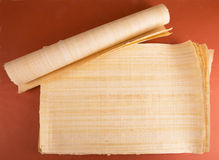 Blank Egyptian papyrus Royalty Free Stock Images
