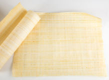 Blank Egyptian papyrus Stock Image