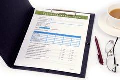 Blank EIA form. Stock Photos