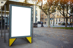 Blank electronic advertising board with empty copy space screen for your text message or promotional content, Royalty Free Stock Image