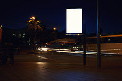 Blank electronic billboard with copy space for your text message or content, public information board at roadside, advertising moc Stock Photography