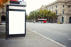 Blank electronic billboard with copy space for your text message or promotional content, public information board in the big city, Stock Image