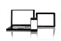 Blank electronic screens Royalty Free Stock Photo