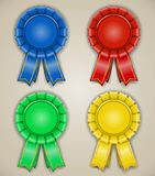 Blank emblems with ribbons Royalty Free Stock Photography