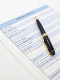Blank employment application Royalty Free Stock Image