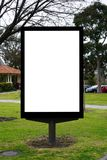 Blank empty billboard signage stock photo