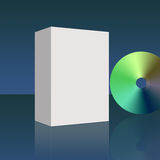 Blank empty  box and DVD Royalty Free Stock Photos