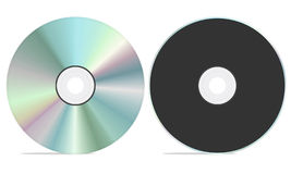 Blank / Empty CD front and back view. Blank cd rom with both front and back view. isolated on a white background Royalty Free Stock Photography