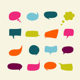 Blank empty color speech bubbles. Vector Royalty Free Stock Photo