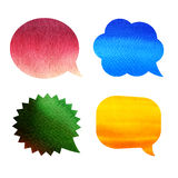 Blank empty color speech bubbles Stock Photos