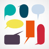 Blank empty Color speech bubblesicon great for any use. Vector EPS10. Royalty Free Stock Image