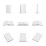 Blank empty cover hardcover book stack collection Stock Photography