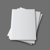 Blank empty magazine template Royalty Free Stock Photography