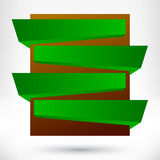Blank empty origami design element. Banner background Stock Photo
