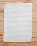 Blank empty paper Stock Photo