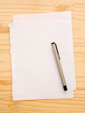 Blank empty paper with pen Royalty Free Stock Image