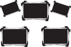 Blank empty photo frames Royalty Free Stock Photos
