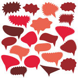 Blank Empty red Speech bubbles set on white background for your design. Vector Stock Photography