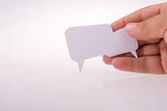 Blank empty speech bubble. Made white paper Royalty Free Stock Photos