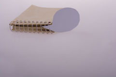 Blank empty speech bubble  and notebook Stock Images