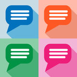 Blank empty speech bubbles icons set great for any use. Vector EPS10. Stock Photo