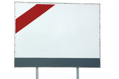 Blank empty white billboard, red and grey bar, large detailed isolated copy space Stock Photos