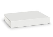 Blank of empty white book isolated with path Stock Images