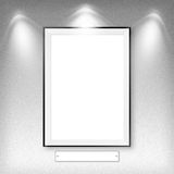 Blank empty white frame Royalty Free Stock Photos