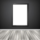 Blank empty white frame Stock Photography